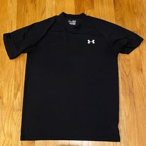 Men's Small Black Under Armour Heat Gear Tee